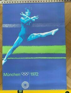 Plakat / Poster Olympische Spiele München 1972 Otl Aicher DIN A1 Turnen