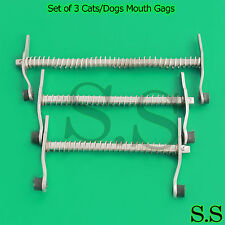 Set of 3 Cats/Dogs Mouth Gags Veterinary Dental instruments Examination Tools