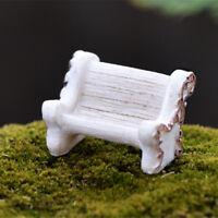 Mini Fairy Dollhouse Miniature Garden Furniture Chair DIY Home Decor E&F