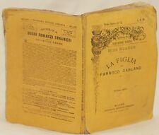 DINAH MARIA MULOCH LA FIGLIA DEL PARROCO GARLAND ROMANZO 1875 LETTERATURA