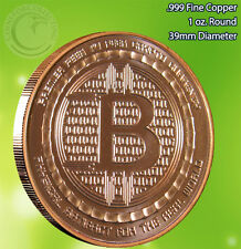 """Bitcoin """"We Do Not Forget"""" Copper Round 1 oz .999 Very Limited and Rare"""