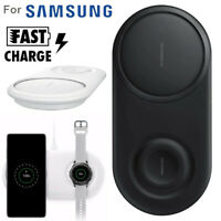 2 in 1 Fast Chargers Wireless Charger Pad For Samsung Galaxy S10/S10+/Watch S2/3