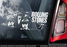 The Rolling Stones - Car Window Sticker - Rock/Pop Music Sign, Mick Jagger