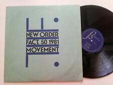 New Order Movement Spain Lp Vinyl 1982