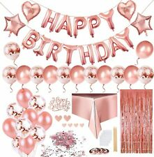 Birthday Party Decorations, Happy Birthday Banner, Confetti and Latex Balloons