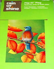"New listing Bluebird on an Autumn Branch Large Garden Porch Flip It Flag, 28"" x 40"" Nip"