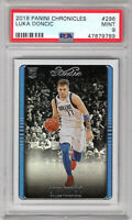 **Luka Doncic** 2018 Panini Chronicles Studio #296 Holo RC Rookie PSA 9 Mint!!