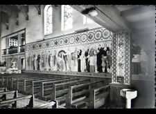 HASPARREN (64) FRESQUES à l'intérieur de la CHAPELLE , cliché période 1950