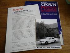 "TOYOTA CROWN PRESS PACK, CAR ""BROCHURE """