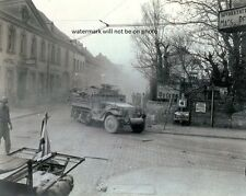 """US Halftracks of 9th Armored Division in Germany 8""""x 10"""" World War II Photo #120"""