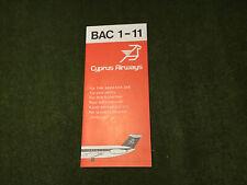 safety card cyprus airways bac 1 11
