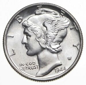 CH Unc 1944-S Mercury Liberty Dime - 90% Silver - From an Original Roll! *221