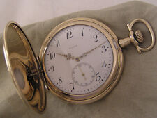 Just Serviced Gold Plated Elgin 1912 USA 15 Jewels Hunter Pocket Watch Perfect