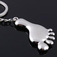 1 Piece Fashion Style Silver Tone Cute Foot Key Rings Key Chains Handbag Hanging