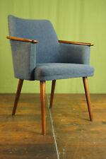 60er Vintage Stuhl Schreibtisch Lehnstuhl Retro Armlehnstuhl Mid-Century Holz