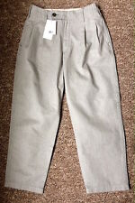 UNIQLO UUU LEMAIRE WOMEN OLIVE LOW WAIST TAPERED PANTS NWT SIZE 8