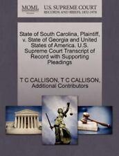 State Of South Carolina, Plaintiff, V. State Of Georgia And United States Of ...