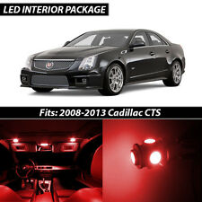 2008-2013 Cadillac CTS Red Interior LED Lights Package Kit CTS-V
