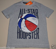 Gymboree boy all star hoopster tee shirt size 7 NWT top boys gray basketball