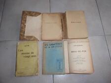 lot livres anciens : romans, portraits, réflexions