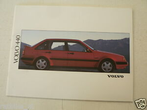 VOLVO 440 MODELS 1991 ?  BROCHURE, FOLDER, PROSPEKT GLT,TURBO,GL,DL