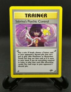 Sabrina's Psychic Control 121/132 - Gym Challenge - Uncommon - Pokemon Card - NM