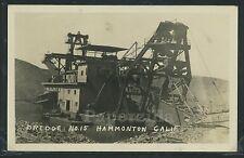 CA Hammonton RPPC 1920's GOLD Mining DREDGE No.15 & Workers Yuba Co Dredgerville