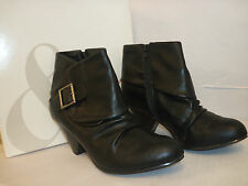 Style & Co New Womens Mookie Black 6.5 M Heels Boots Shoes