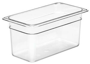 Camwear Food Pan, 1/3 size, Polycarbonate Clear Plastic, NSF, Cambro model 36CW