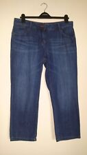 NEXT DISTRESSED STONEWASH CROPPED MEDIUM WEIGHT RIGID COTTON MIX JEAN 14R IL 25""