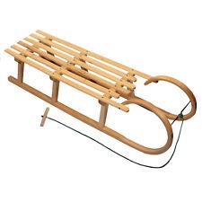 BAMBINIWELT Holzschlitten HÖRNERSCHLITTEN mit Zugseil 100cm