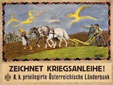 ADVERT WAR AUSTRIA HUNGARY LOAN FUND PLOW PLOUGH FARM ART POSTER PRINT LV7141