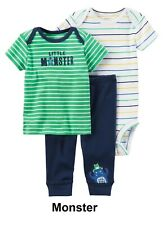 0fa63cf90 Carters Baby Boys 3-pc. Little Monster Stripe Layette Set 12 Months