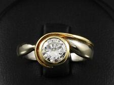 Schöner Solitär Brillant Ring ca. 0,90ct  585/- Weißgold & Gelbgold
