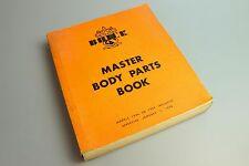 Original 1936 through 1957 Buick Master Body Parts Book