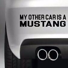 Mi Otro Coche Es Mustang Calcomanía Ventana de Coche Divertido Pegatina Etiqueta de vinilo