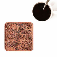 Melbourne map coaster One piece  wooden coaster Multiple city IDEAL GIFTS