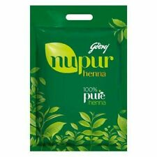 Godrej Nupur Natural Mehndi 100% Pure Henna 400 gm Tattoos Mehandi All Hair Type