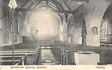 POSTCARD    SUSSEX  LEWES  SOUTHOVER  Church  (  Interior  )