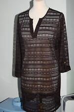 Womens Lee & Nicole Beachwear Cover Up Summer Dress Black Size M BNWT (E2)