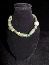 Pre-Columbian Mayan Jade Bead Bracelet, Authentic