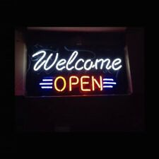 """Welcome Open 17""""x12"""" Neon Sign Lamp Light Beer With Dimmer"""