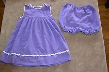 Petit Ami Girl Dress 2 Piece Bloomers Size 12 18 mo. Traditional Purple Corduroy