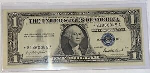 One (1) $1 SILVER CERTIFICATE *⭐️STAR NOTE⭐️* 1957 (VERY RARE) UNCIRCULATED