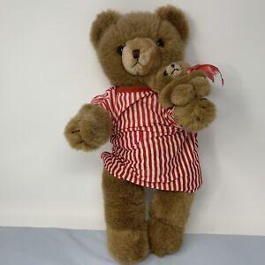 "1984 Schmid Gordon Fraser 16"" Jointed Teddy Bear Plush Musical Lullaby Vintage"