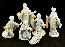 Italy Nativity Set Jesus Manger Mary Joseph 3 Wise Men Creche 7 piece Set