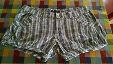 Denny rose pantaloncino scozzese elasticizzato con tasche tg L