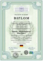 Premium Diplom, Urkunde, Zeugnis, personalisiert und fälschungssicher