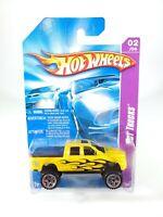 Hot Wheels 2008 Team: Hot Trucks Dodge Ram 1500 Yellow with Flames NEW NOC