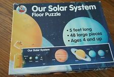 Educational Solar System large floor puzzle. Five feet long, 48 pieces